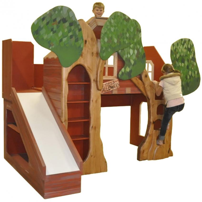Treehouse Theme Bed with Slide Main Thumbnail