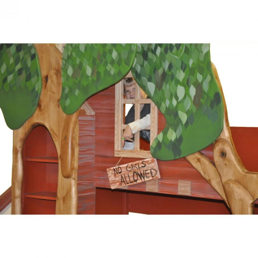 Treehouse Theme Bed with Slide Thumbnail 1