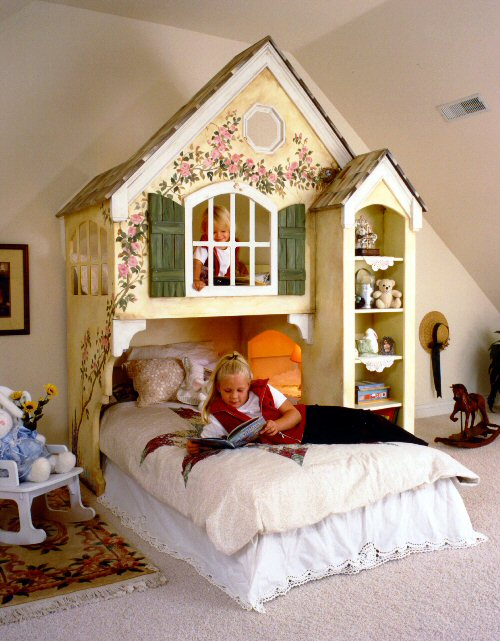 abbyville cottage loft bed custom over twin rh sweetretreatkids com twin beds cottage style cottage twin loft bed