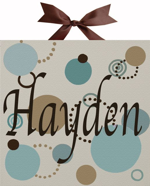 Hayden Name Canvas By Alli Taylor