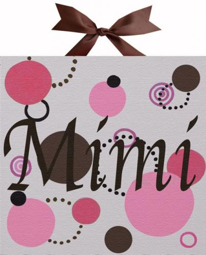 Mod Squad Pink Name Canvas by Alli Taylor