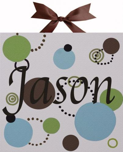 Circle Time Blue Name Canvas by Alli Taylor