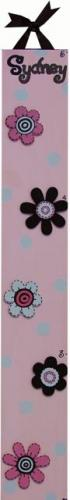 Circle Time Pink Flower Growth Chart by Alli Taylor