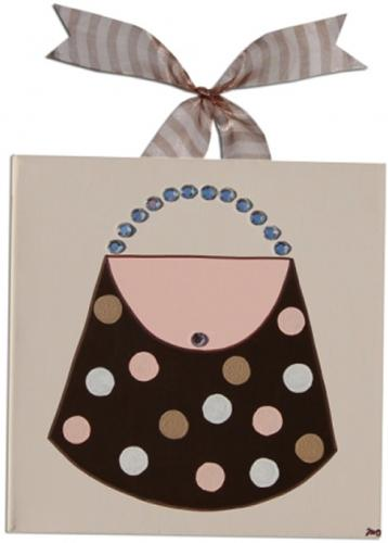 Madison Polka Dot Purse Canvas by Alli Taylor
