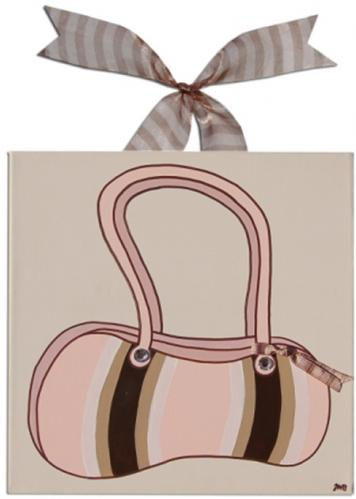 Madison Striped Purse Canvas by Alli Taylor