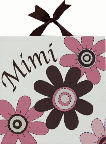 Mod Squad Pink Flower Canvas by Alli Taylor