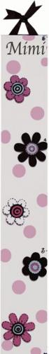 Mod Squad Pink Flower Growth Chart by Alli Taylor