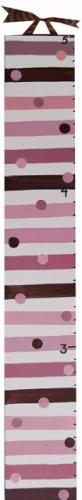 Mod Squad Pink Striped Growth Chart by Alli Taylor
