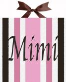 Mod Squad Pink Striped Name Canvas by Alli Taylor