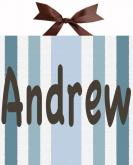 Mod Squad Blue Striped Name Canvas