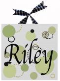 Riley Name Canvas by Alli Taylor