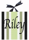 Riley Striped Name Canvas by Alli Taylor