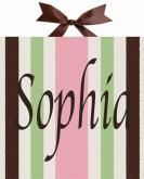 Sophia Striped Name Canvas by Alli Taylor