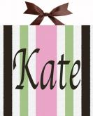 Circle Time Pink Striped Name Canvas by Alli Taylor