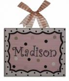 Madison Name Canvas by Alli Taylor
