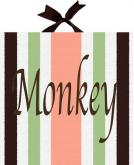 Monkeyin Around Striped Name Canvas by Alli Taylor