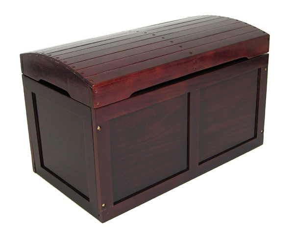 Best Toy Boxes And Chests For Kids : Cherry hardwood barrel top toy chest