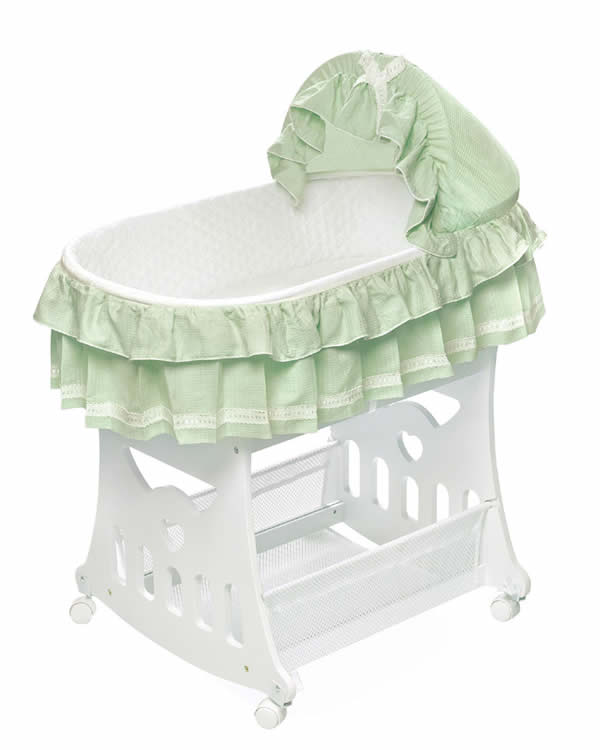 Sage waffle portable bassinet 39 n cradle w toybox base Portable bassinet