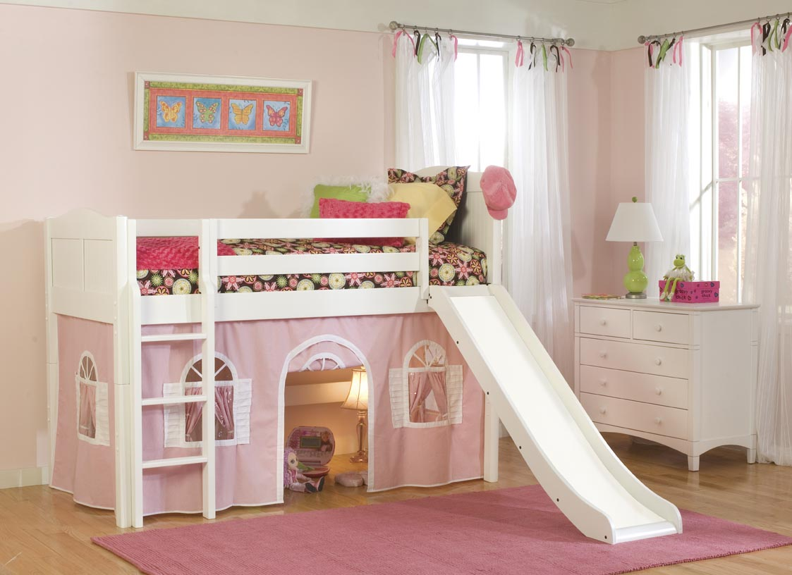 Girls Loft Bed with Dresser 1123 x 816
