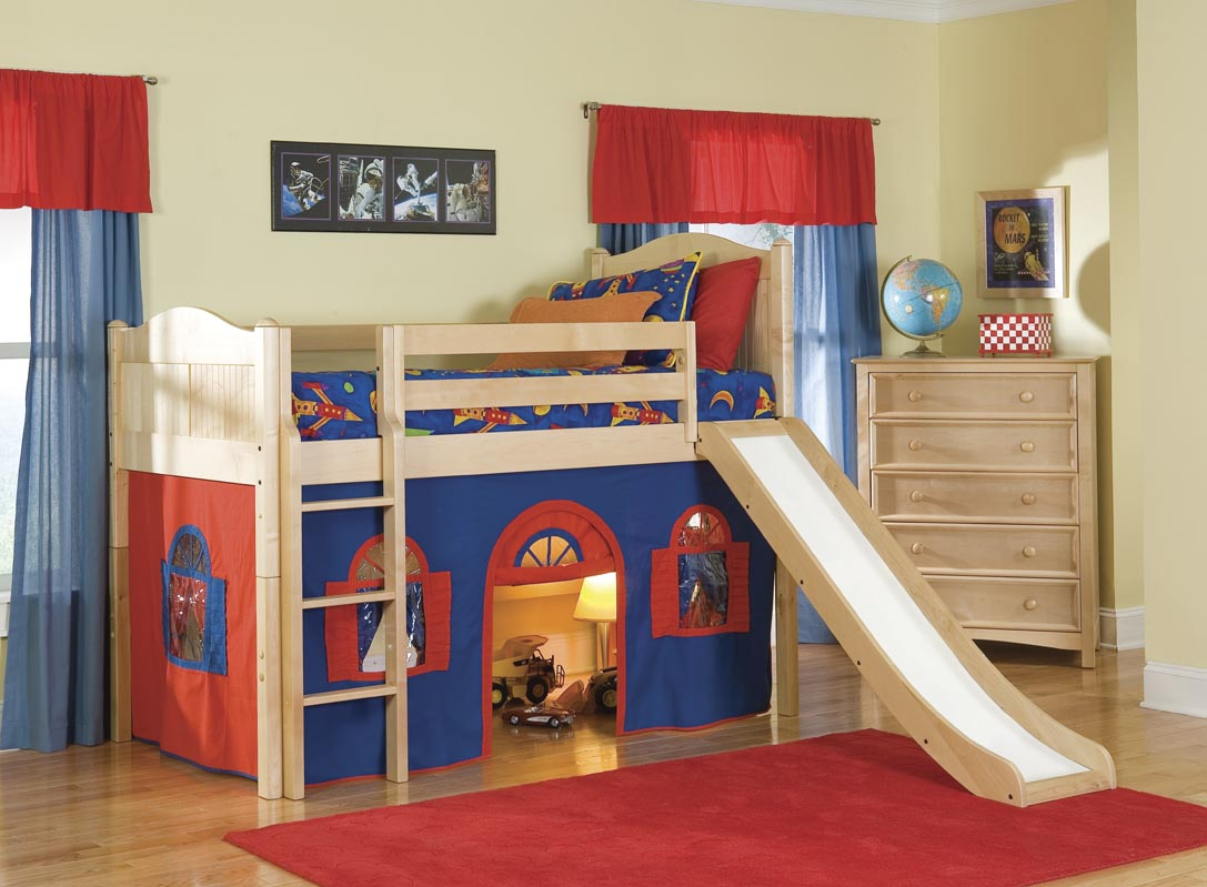 Boys Loft Bed with Slide