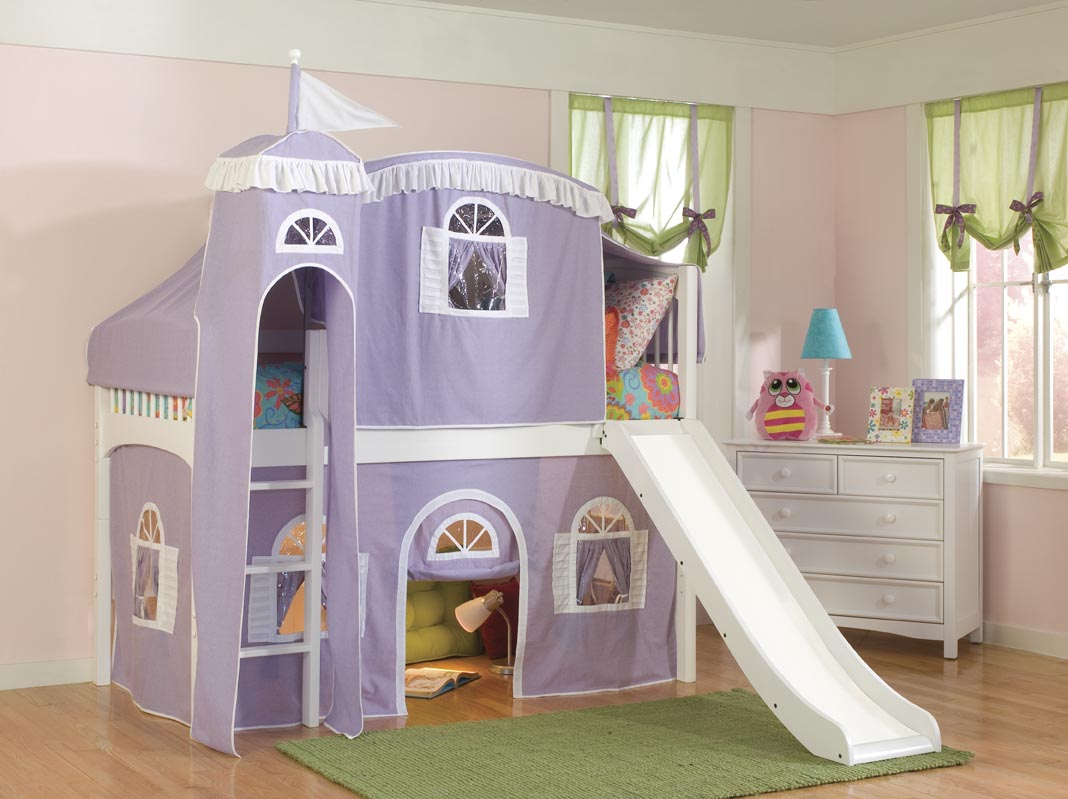 Kid Loft Beds With Slide - Unusual kids beds