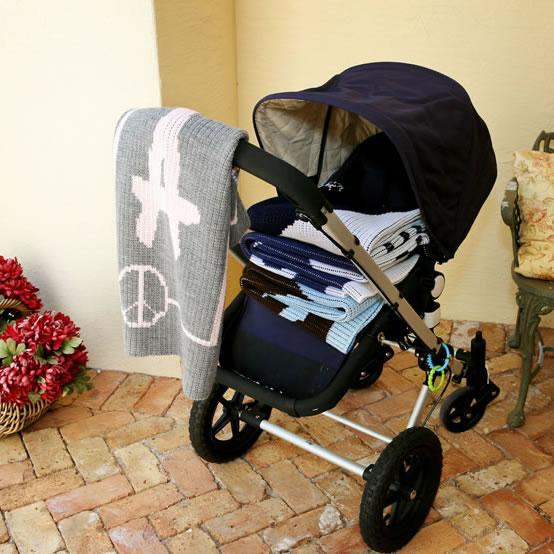 Stroller Blanket with Baseball Bat Thumbnail 2