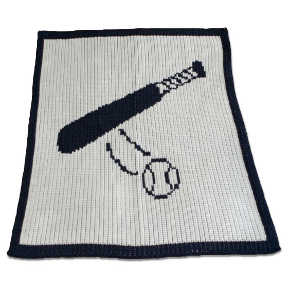 Stroller Blanket with Baseball Bat Main Thumbnail