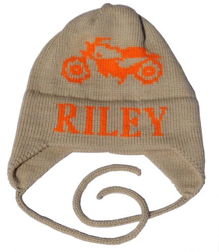 d0782d18538 Personalized Motorcycle Hat with Monogram Name and Earflaps