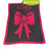 Name with Bow Blankee (shown in hot pink)