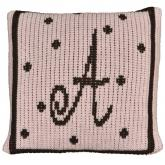 Personalized Pillow with Polka Dots and Border