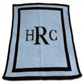 Personalized Blue and Black Blankee