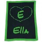 Personalized Blanket with Heart
