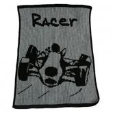 Personalized Blanket with Racecar