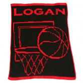 Personalized Stroller Blanket with Basketball
