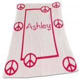 Personalized Floating Peace Sign Blanket
