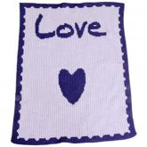Personalized Stroller Blanket with Name, Heart and Scalloped Edge