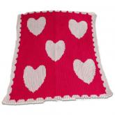 Floating Hearts and Scalloped Edge Blanket