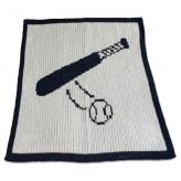 Stroller Blanket with Baseball Bat