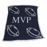 Personalized Stroller Blanket with Football