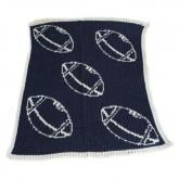 Stroller Blanket with Footballs