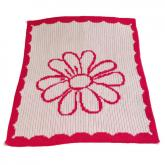 Flower and Scalloped Edge Blanket