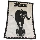Elephant On Ball Stroller Blankee