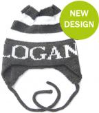 Modern Stripe Hat with Name and Earflaps