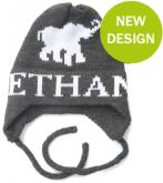 Personalized Elephant Hat with Name and Earflaps
