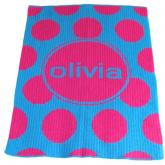 Polka Dot Blankee (shown in pink and blue)