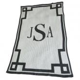 Monogram And Scroll Blankee