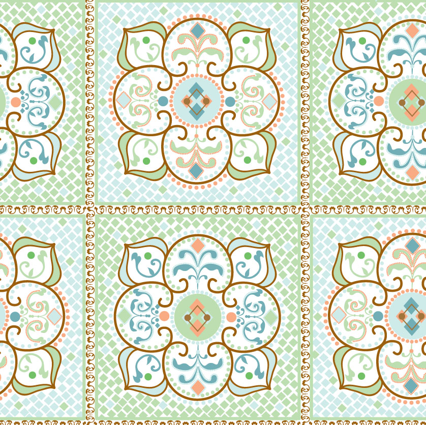 Moroccan fabric patterns for Modern kids fabric