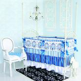 Luxe Blue Preston Baby Bedding by Caden Lane