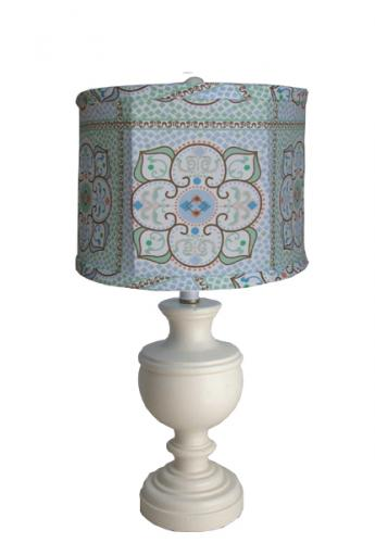 Large Blue Moroccan Classic Urn Lamp