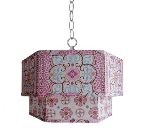 Large Pink Moroccan & Small Pink Moroccan Double Pendant